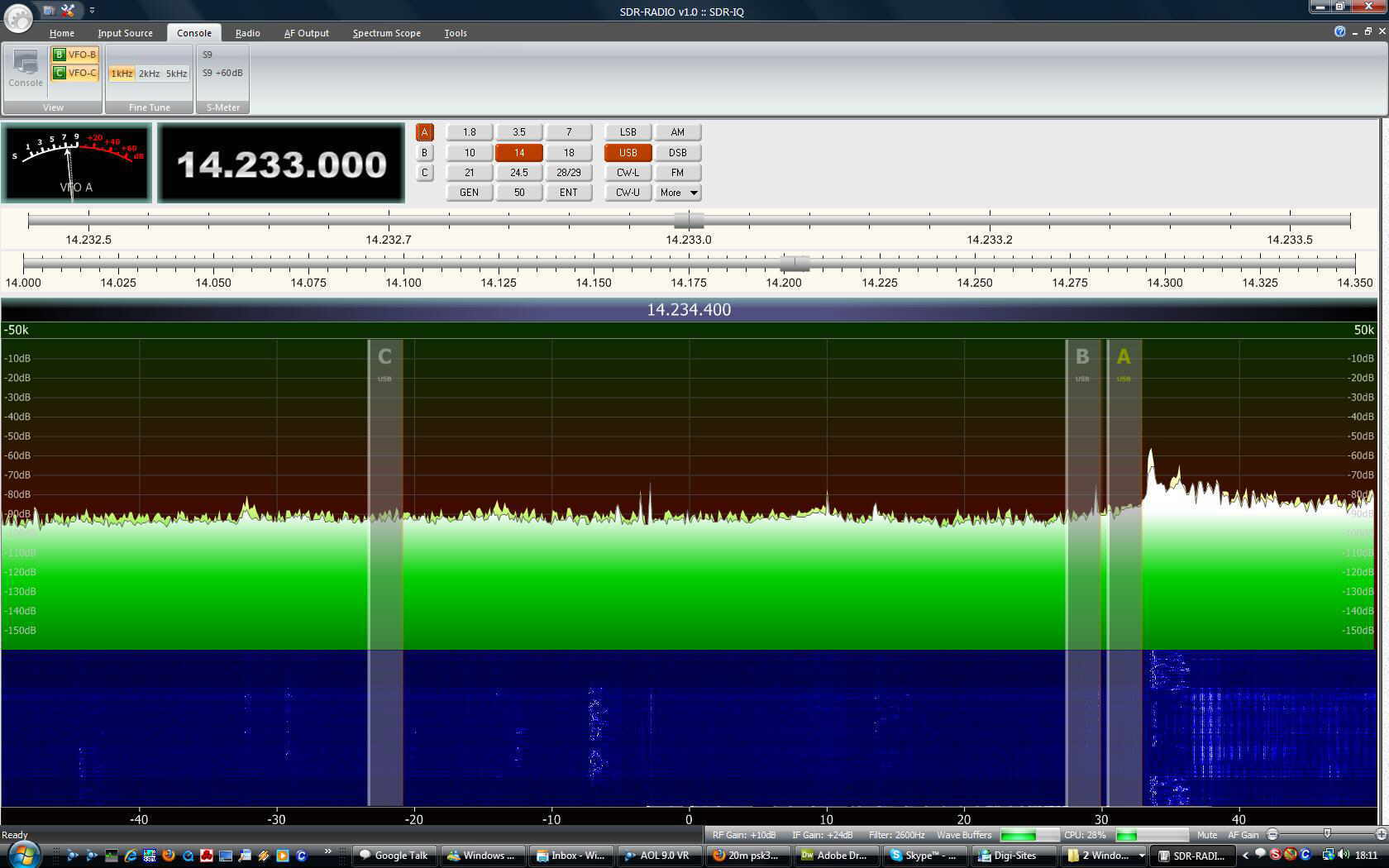 SDR radio via the internet