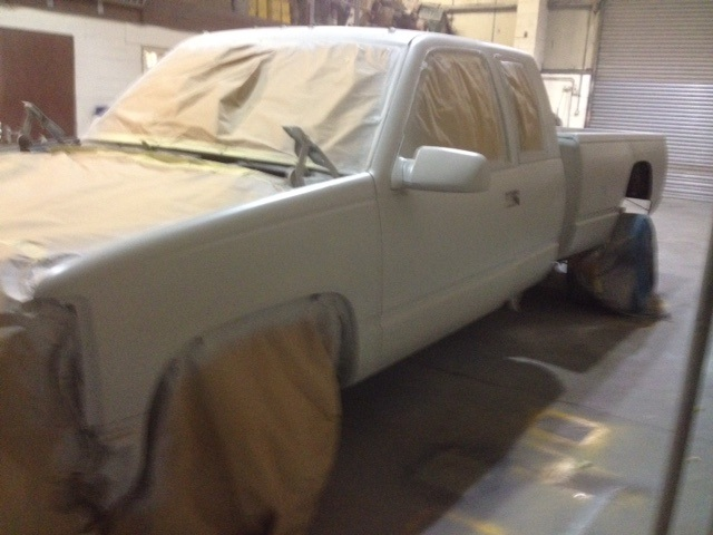 Chevy truck all in primer