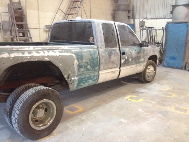 lot of rubbing down was needed GMC C3500