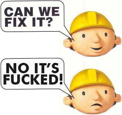 Can we fix it? No we can't