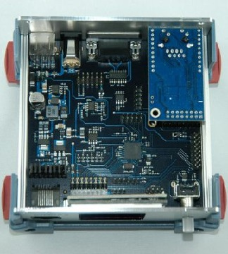 DVRPT V3 inside case showing board