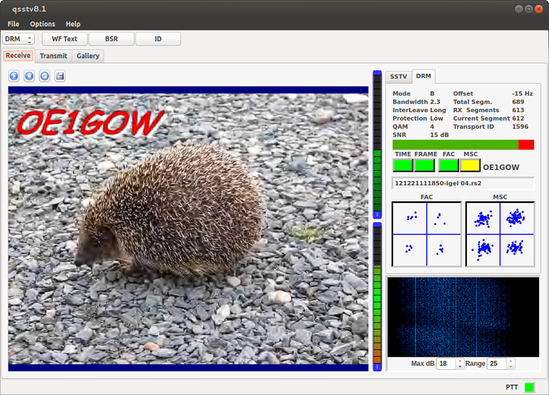 QSSTV Drm RX screen
