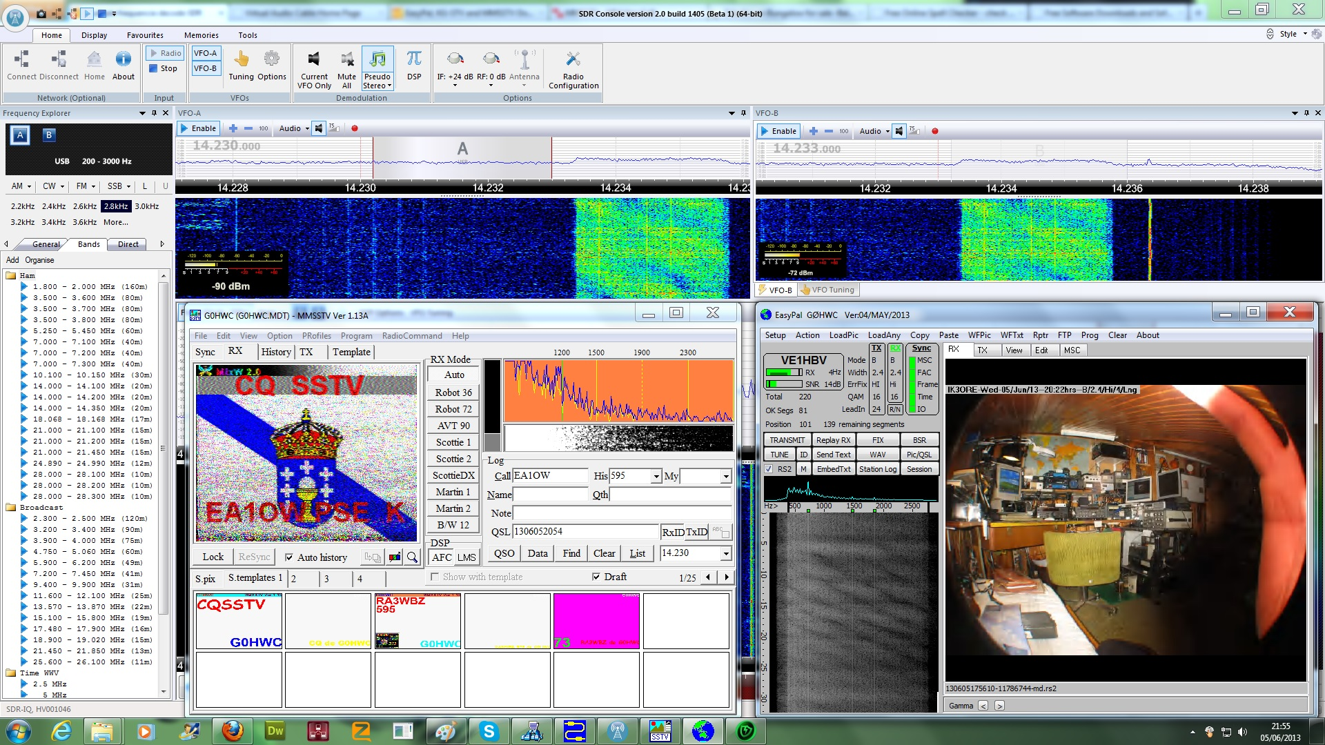 SDR Radio for MMSSTV and EasyPal